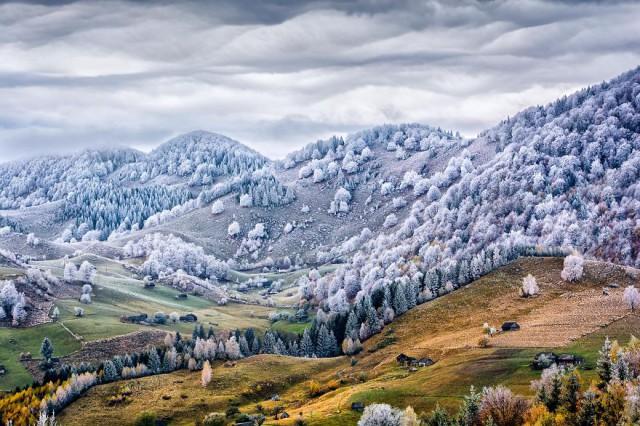Eduard Gutescu munți iarna
