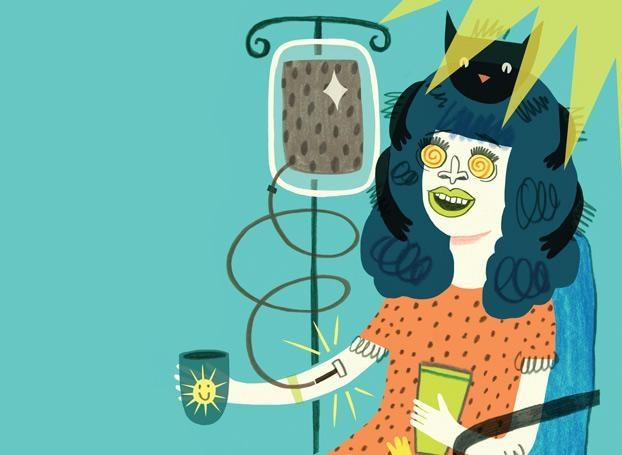 dependeta cafea intravenos