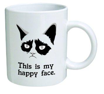 happy face grumpy cat