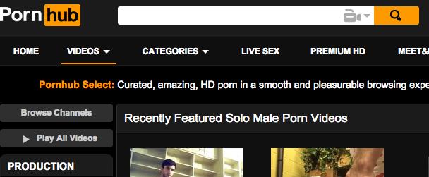 4. Pornhub - solomale